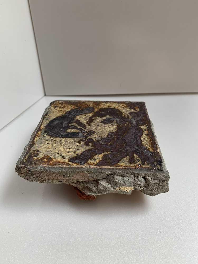 Bernard Leach (British 1887-1979) 'Bird on Nest' Tile - Image 3 of 6