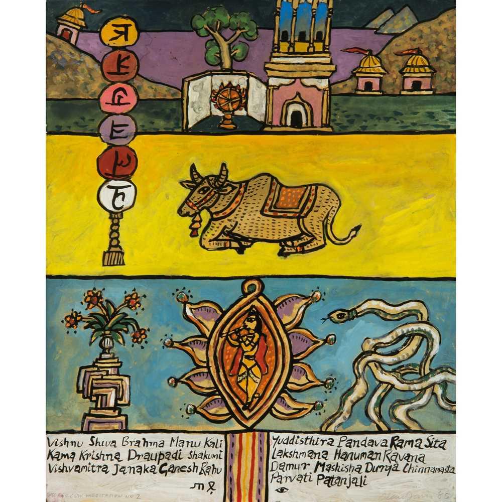 Alan Davie C.B.E., R.A., H.R.S.A. (British 1920-2014) Sacred Cow Meditation No.2, opus G.1920, 1985