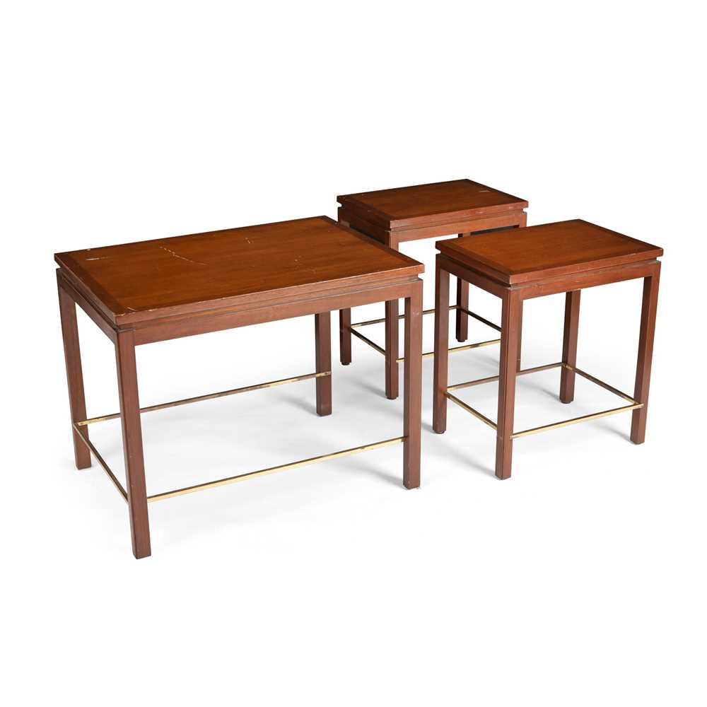 Edward Wormley (American 1907-1995) for Dunbar Nest of Three Tables