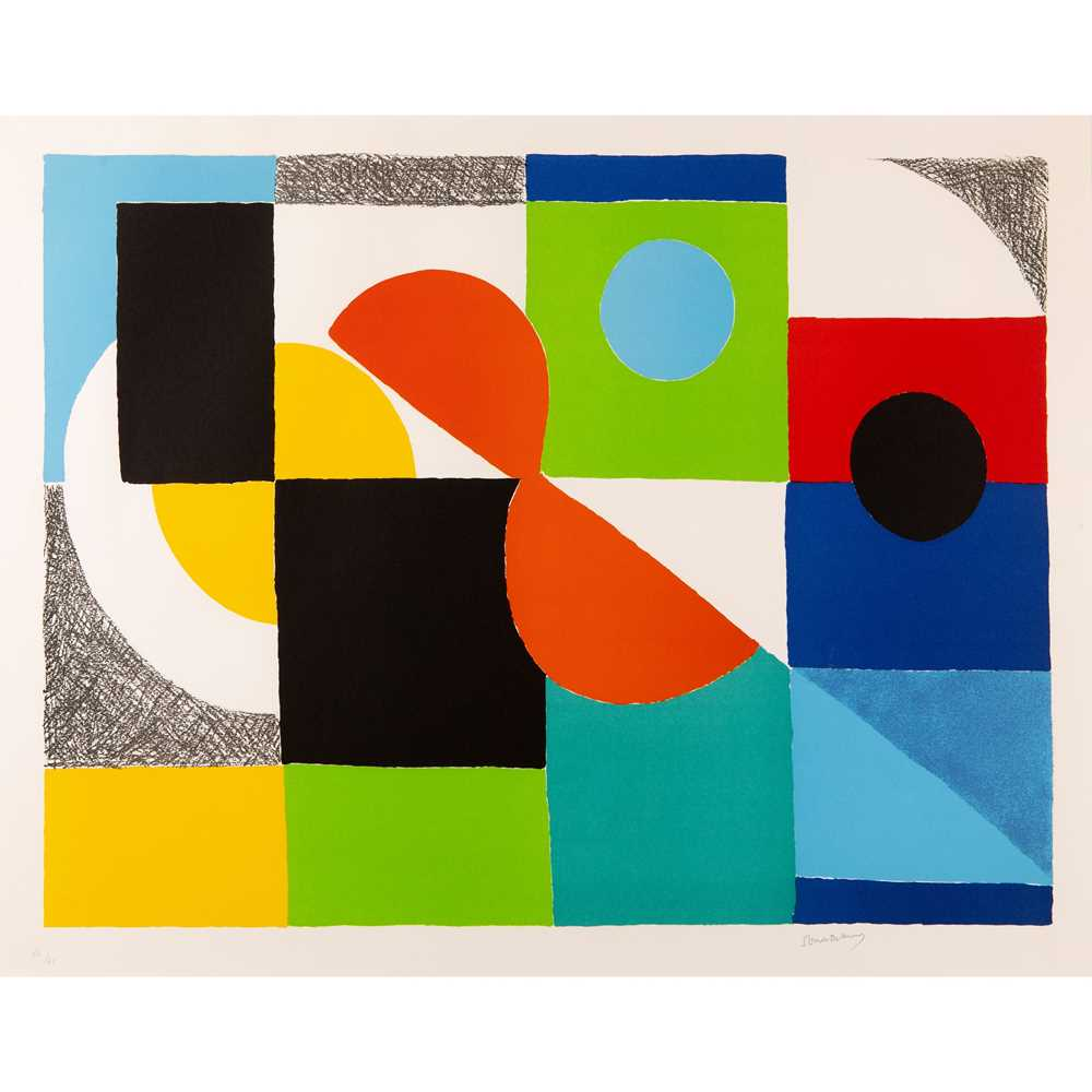 Sonia Delaunay (French 1885-1979) Grand Helice Rouge, 1970
