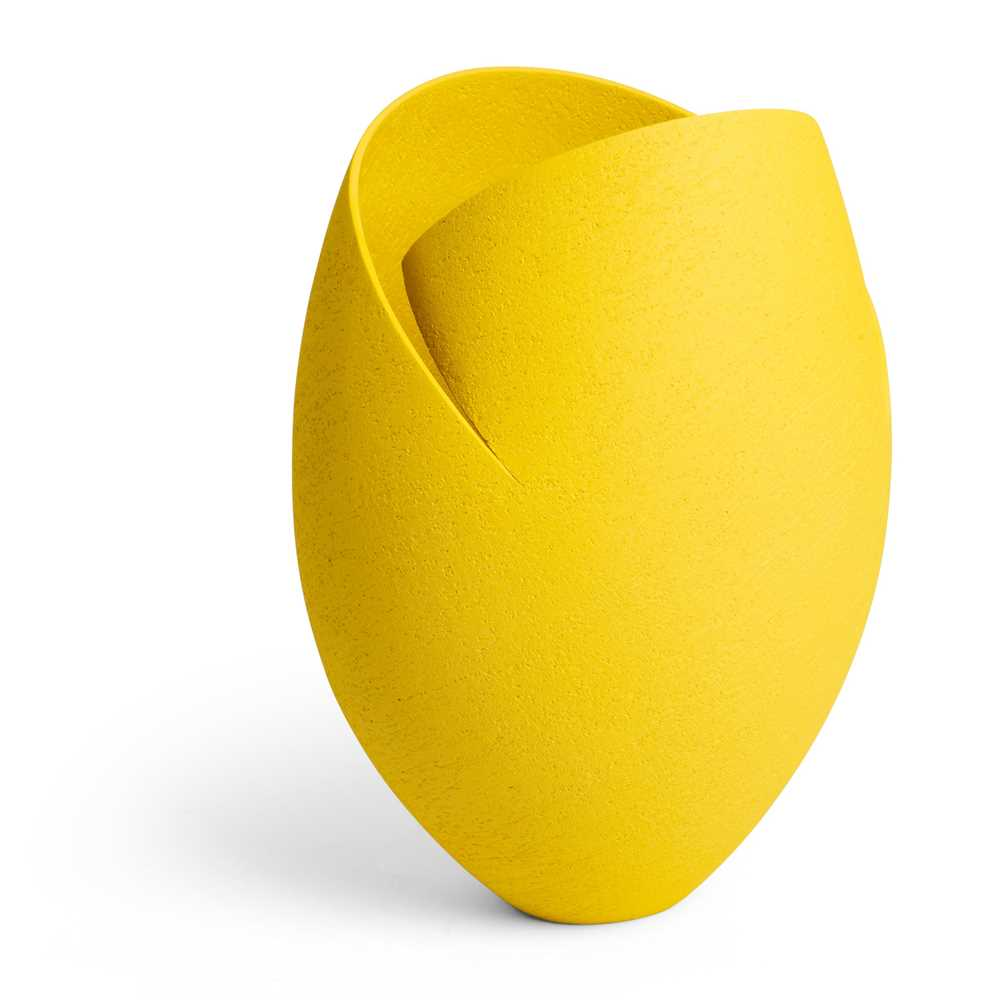 Ashraf Hanna (Egyptian 1967-) Yellow Cut and Altered Vessel