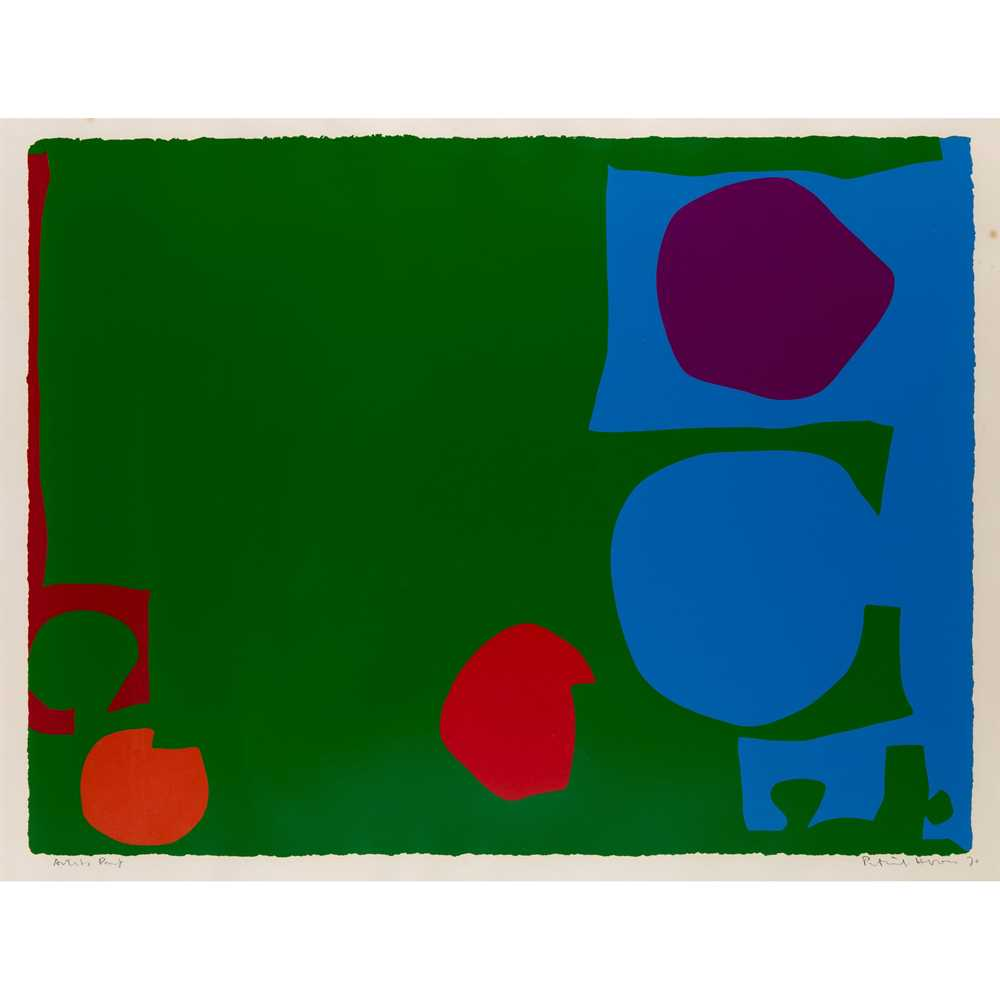 Patrick Heron C.B.E. (British 1920-1999) Three Reds in Green and Magenta in Blue : April 1970