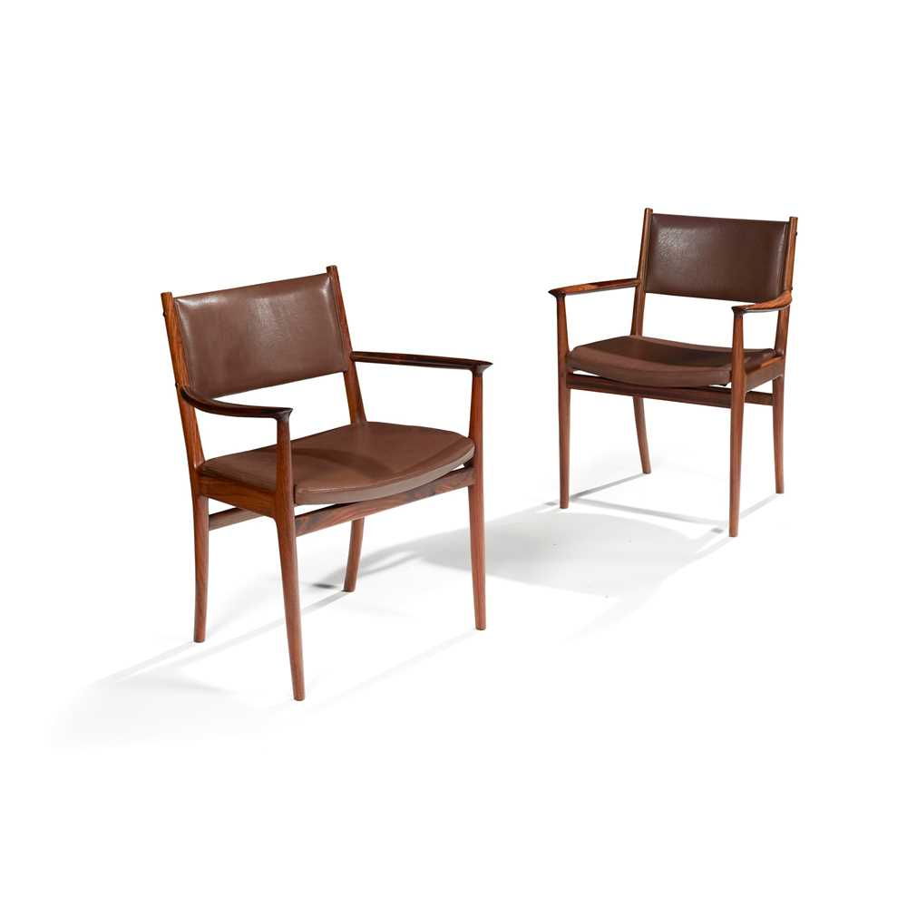 Kai Lyngfeldt Larsen (Danish 1920-2001) for Vejen Dining Table and Set of Six Chairs - Image 3 of 26