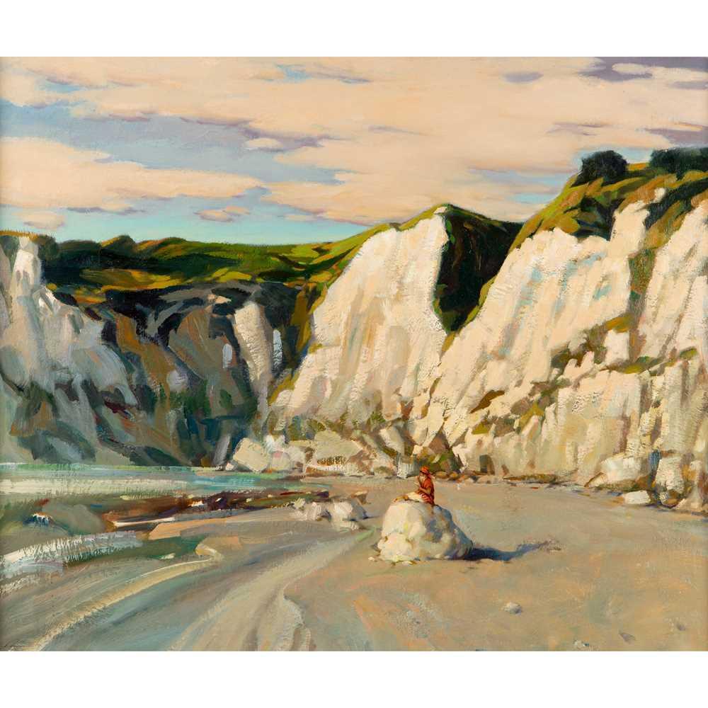 Ken Moroney (British 1949-2018) Girl on the Beach