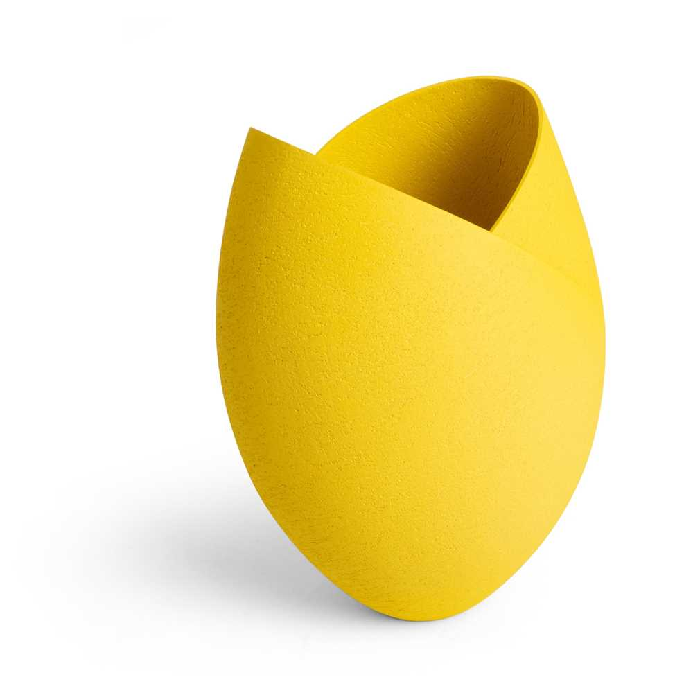 Ashraf Hanna (Egyptian 1967-) Yellow Cut and Altered Vessel - Image 3 of 3
