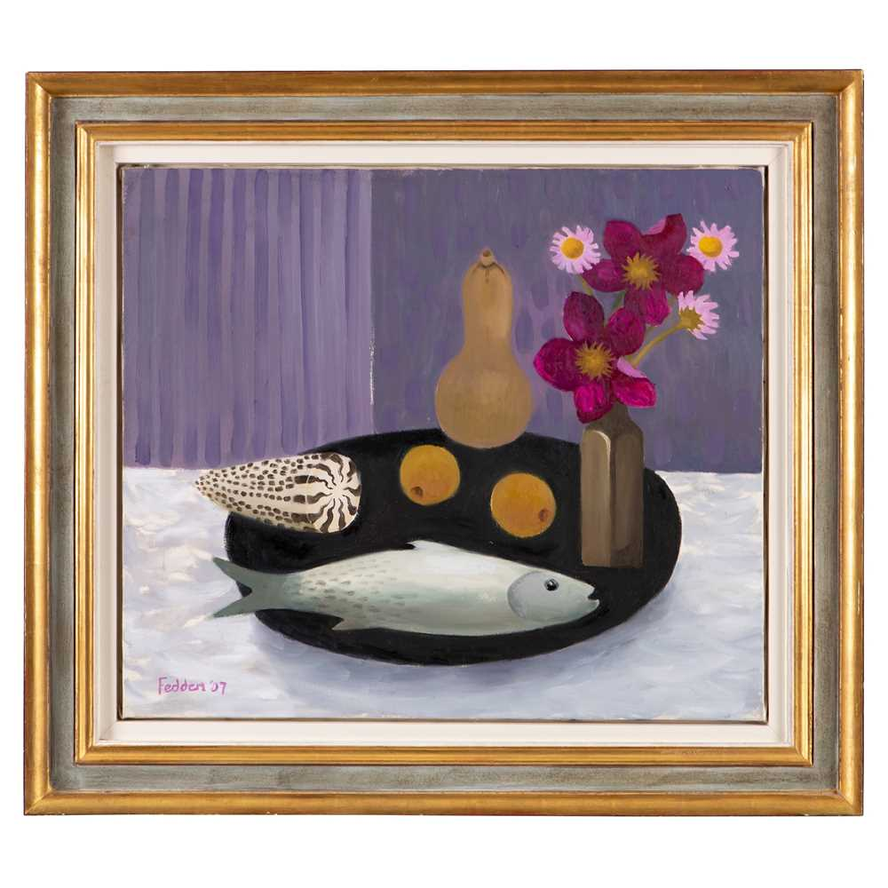 Mary Fedden O.B.E., R.A., R.W.A. (British 1915-2012) Fish, Gourd and Flowers, 2007 - Image 2 of 3