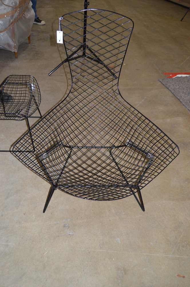Harry Bertoia (American 1915-1978) Bird Chair and Ottoman, designed 1952 - Image 5 of 13