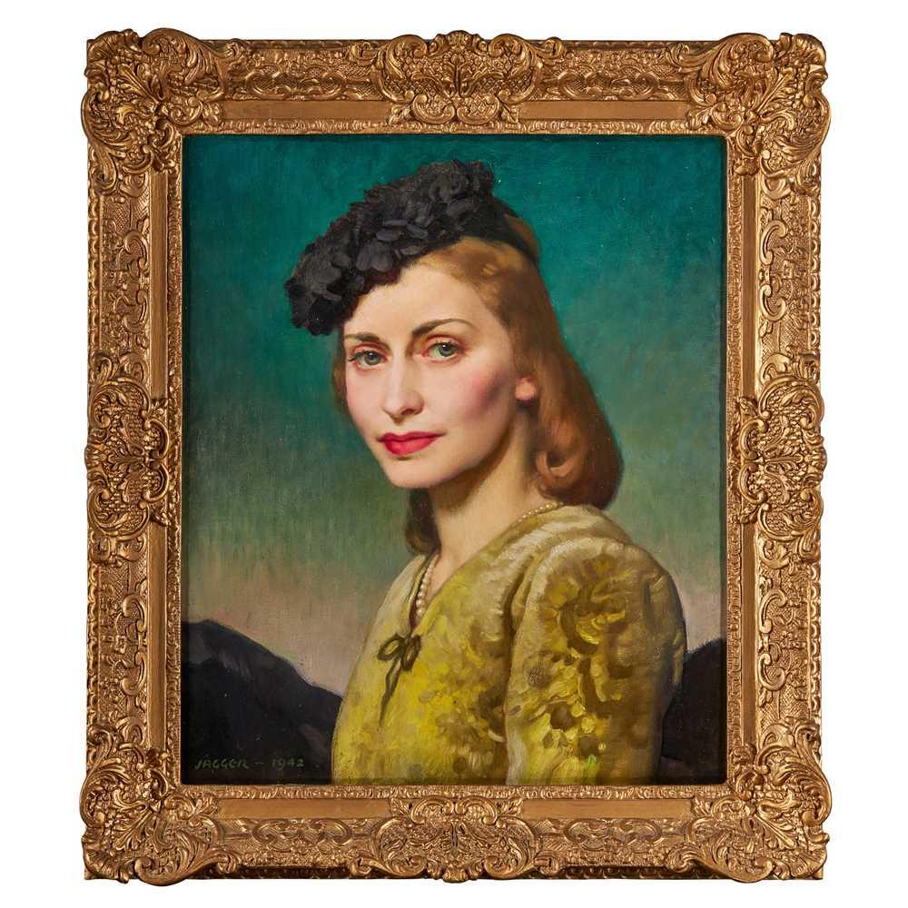 David Jagger R.O.I (British 1891-1958) Mrs Thelma Bader (wife of Wing Commander Douglas Bader, D.S.O - Image 2 of 3