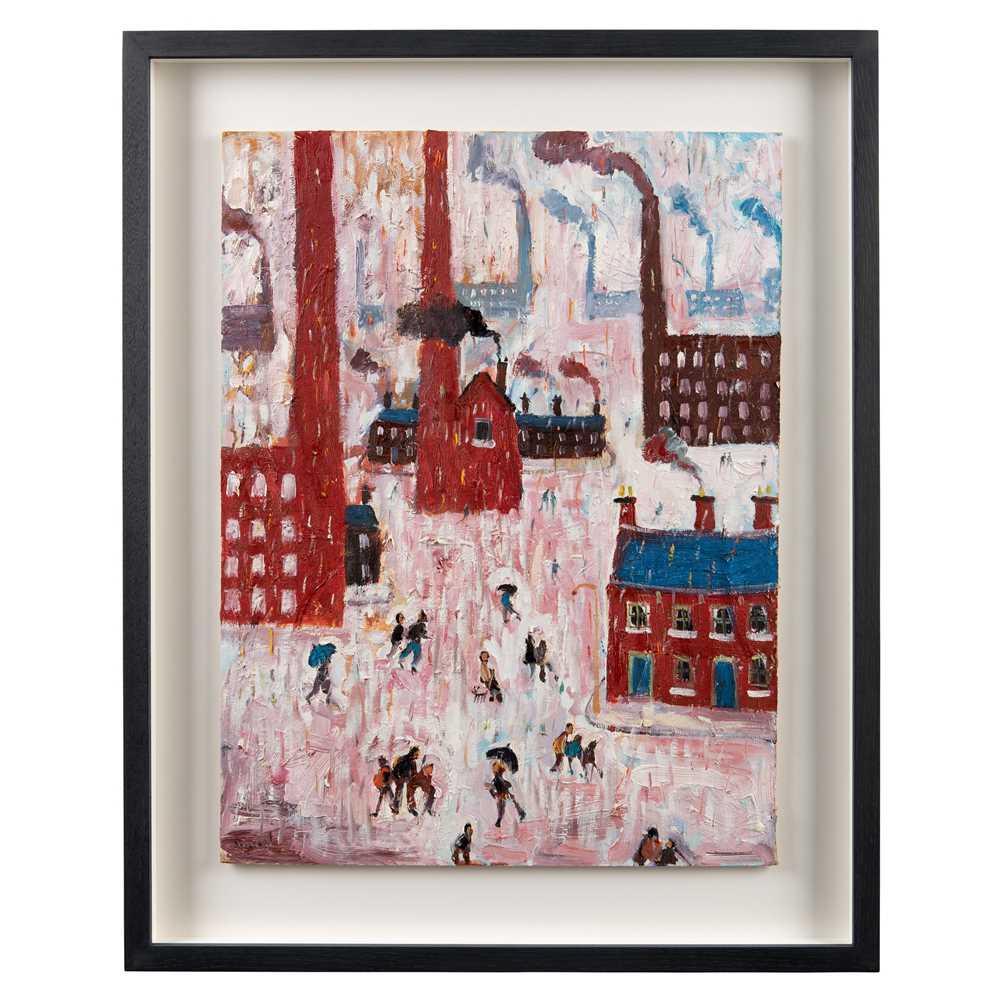 Simeon Stafford (British 1956-) Rain, Industrial Town - Image 2 of 3