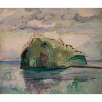 Edward Wolfe R.A. (South African/British 1897-1982) The Castle Ischia, 1947