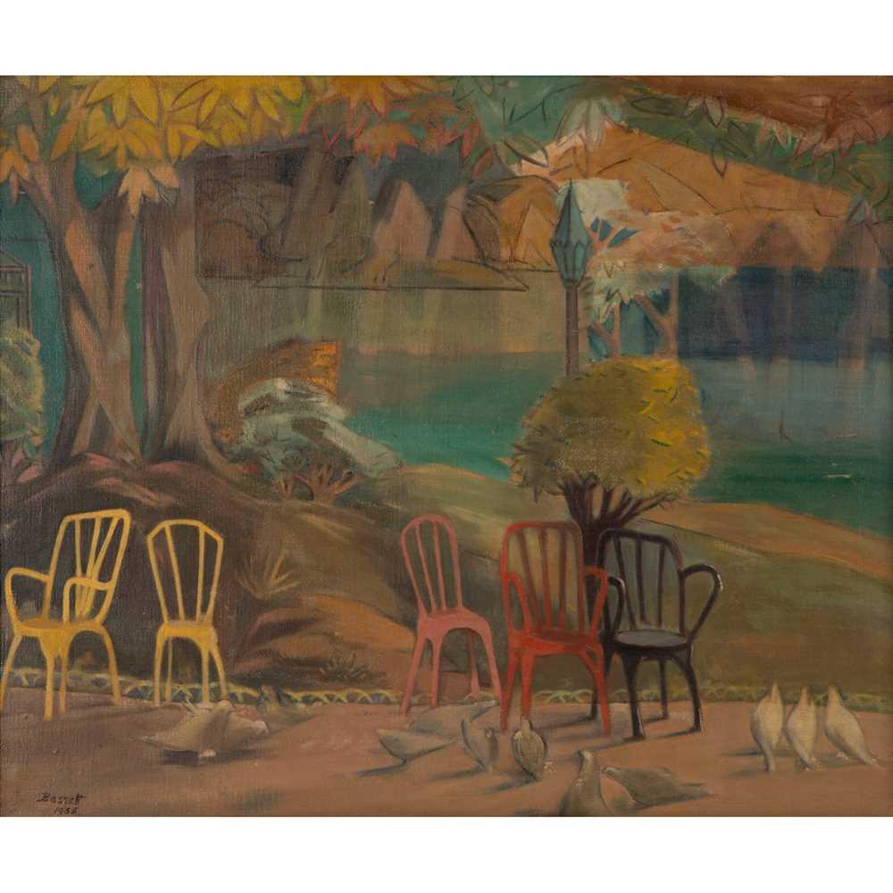 Bassett Fitzgerald Wilson (British 1888-1972) Birds in the Park, 1958