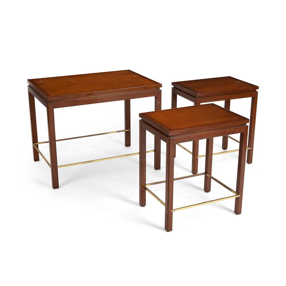 Edward Wormley (American 1907-1995) for Dunbar Nest of Three Tables - Image 2 of 3