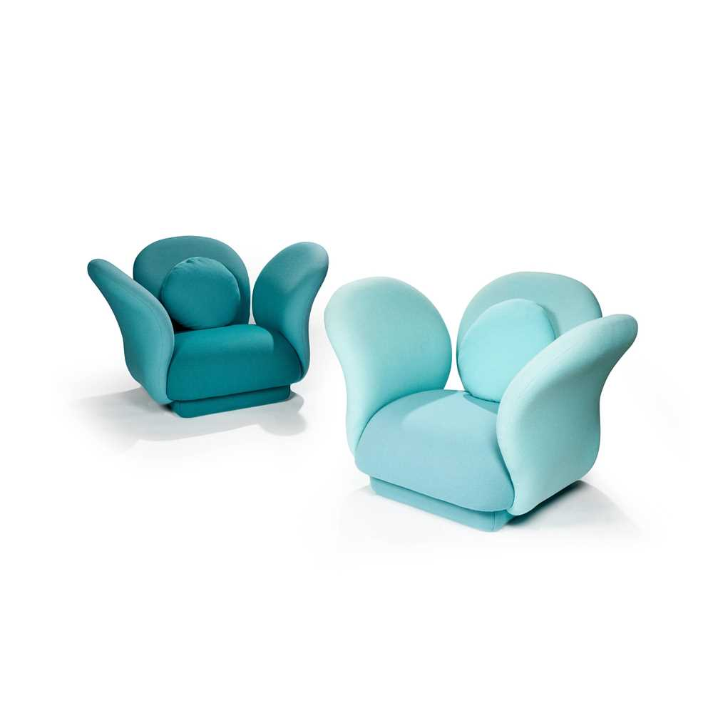 Pierre Paulin (French 1927-2009) for Artifort Pair of 'Multimo' Lounge Chairs, designed 1969