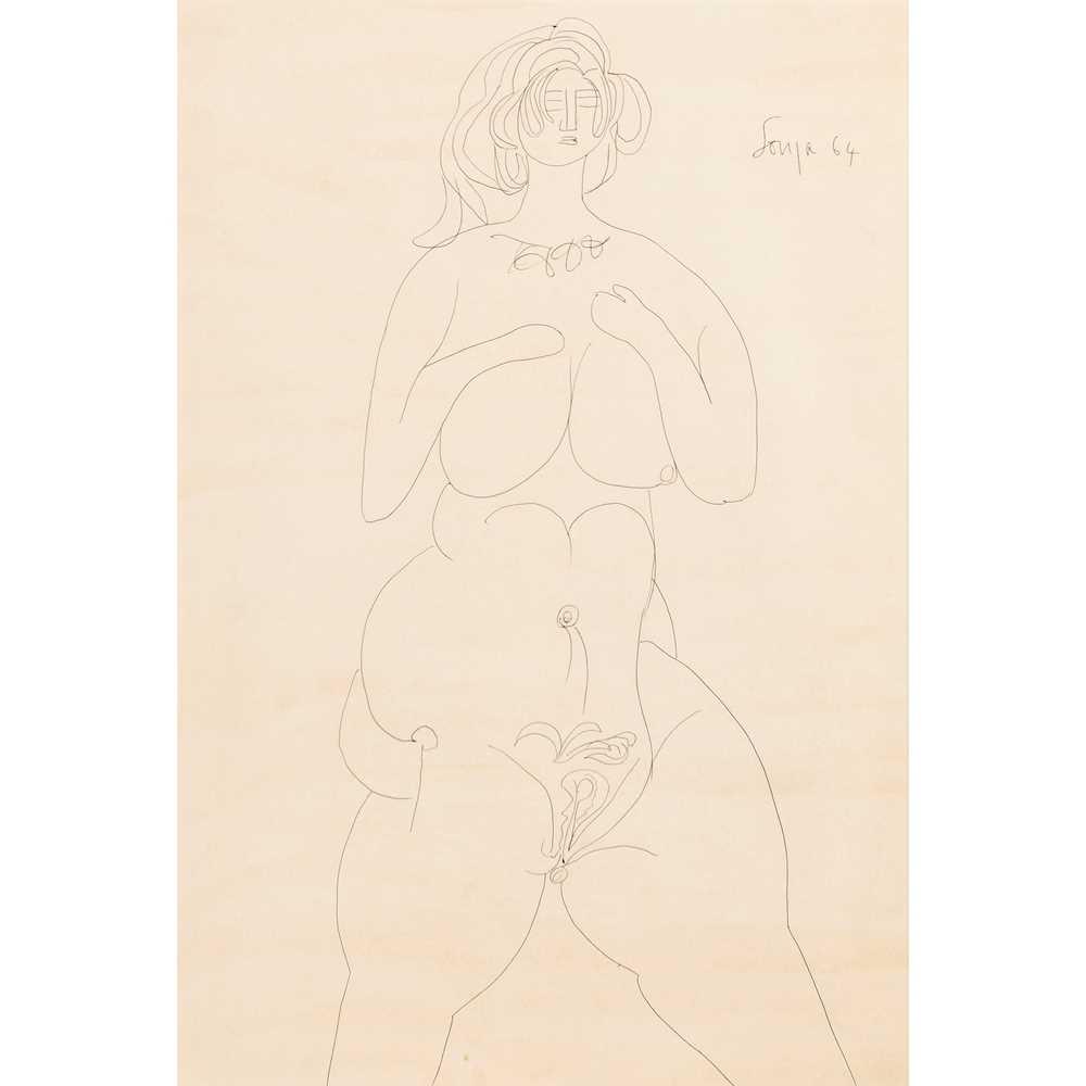 Francis Newton Souza (Indian 1924-2002) Female Nude, 1964