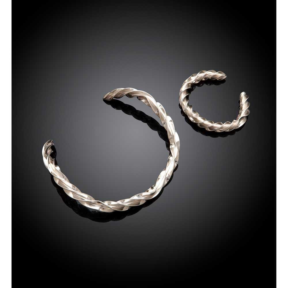 Andreas Mikkelsen (Danish 1928-2008) for Georg Jensen Collar Necklace and Bracelet