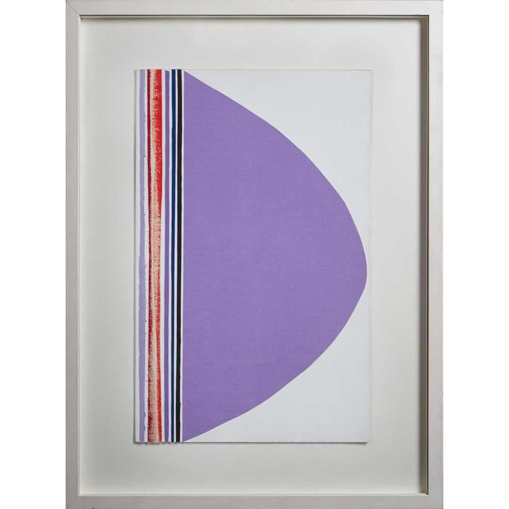 Sir Terry Frost R.A. (British 1915-2003) Composition with Purple, Red, Blue and Black - Image 2 of 2