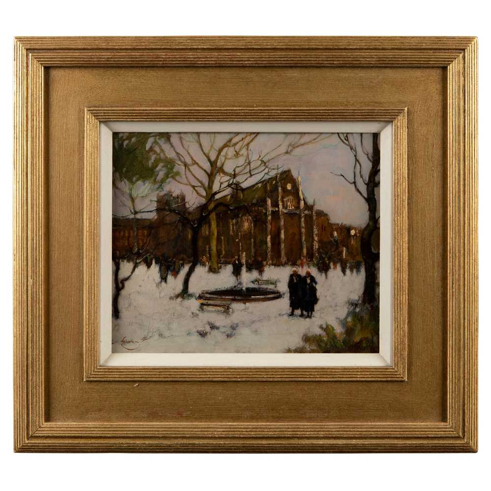 Ken Moroney (British 1949-2018) The Inner Temple in the Snow - Image 2 of 3