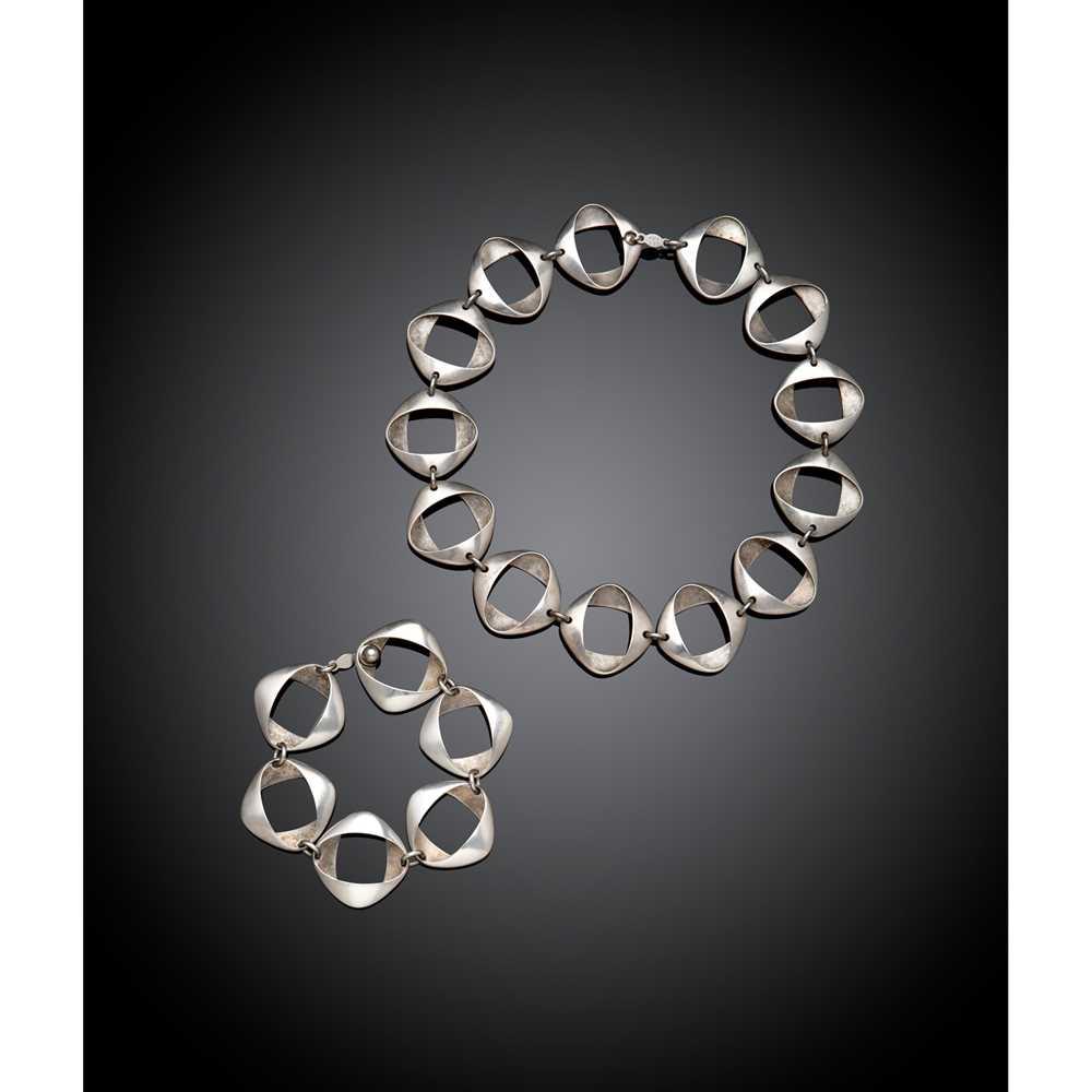 Henning Koppel (Danish 1918-1981) for Georg Jensen Necklace & Bracelet