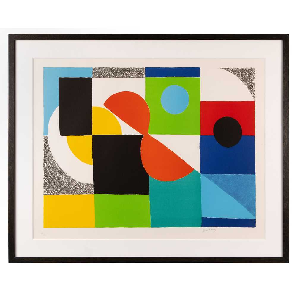 Sonia Delaunay (French 1885-1979) Grand Helice Rouge, 1970 - Image 2 of 3