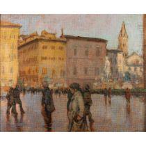Ken Moroney (British 1949-2018) Piazza Della Signoria, Florence