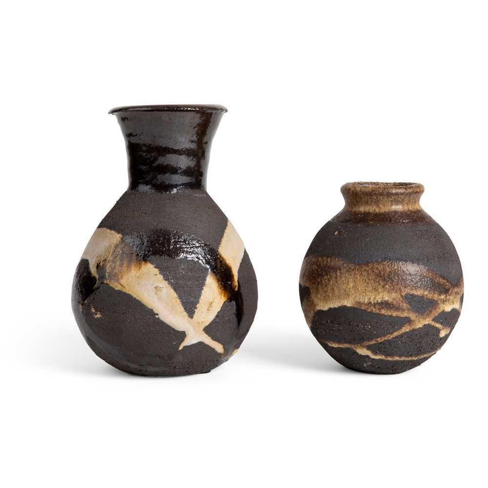 Janet Leach (American 1918-1997) at Leach Pottery Two Vases