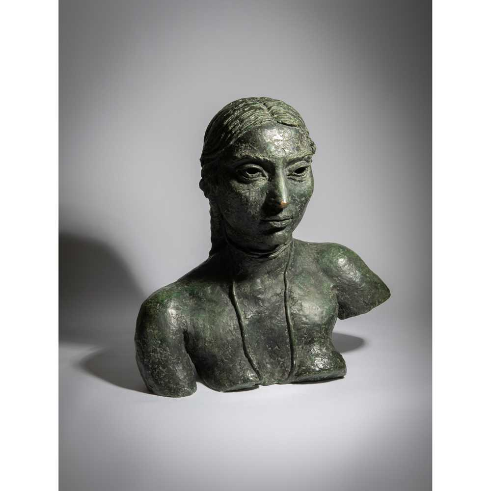 Sir Jacob Epstein K.B.E. (British 1880-1959) Third Portrait of Sunita (Bust with Necklace), conceive - Image 2 of 2