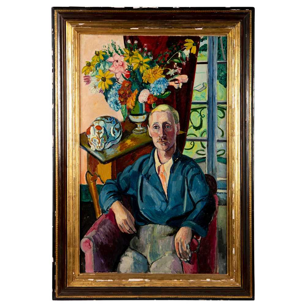 Edward Wolfe R.A. (South African/British 1897-1982) Portrait of Jim Wylie at Portmeirion - Image 2 of 3