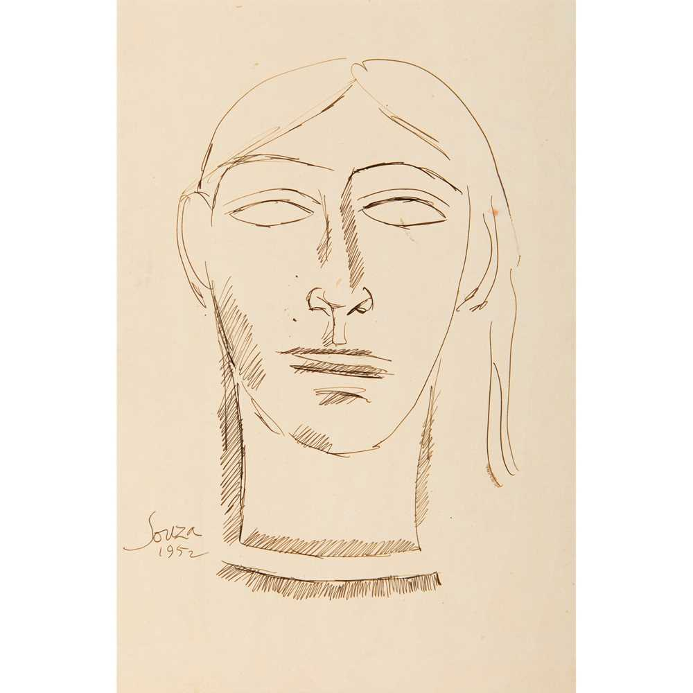 Francis Newton Souza (Indian 1924-2002) Portrait (Head), 1952