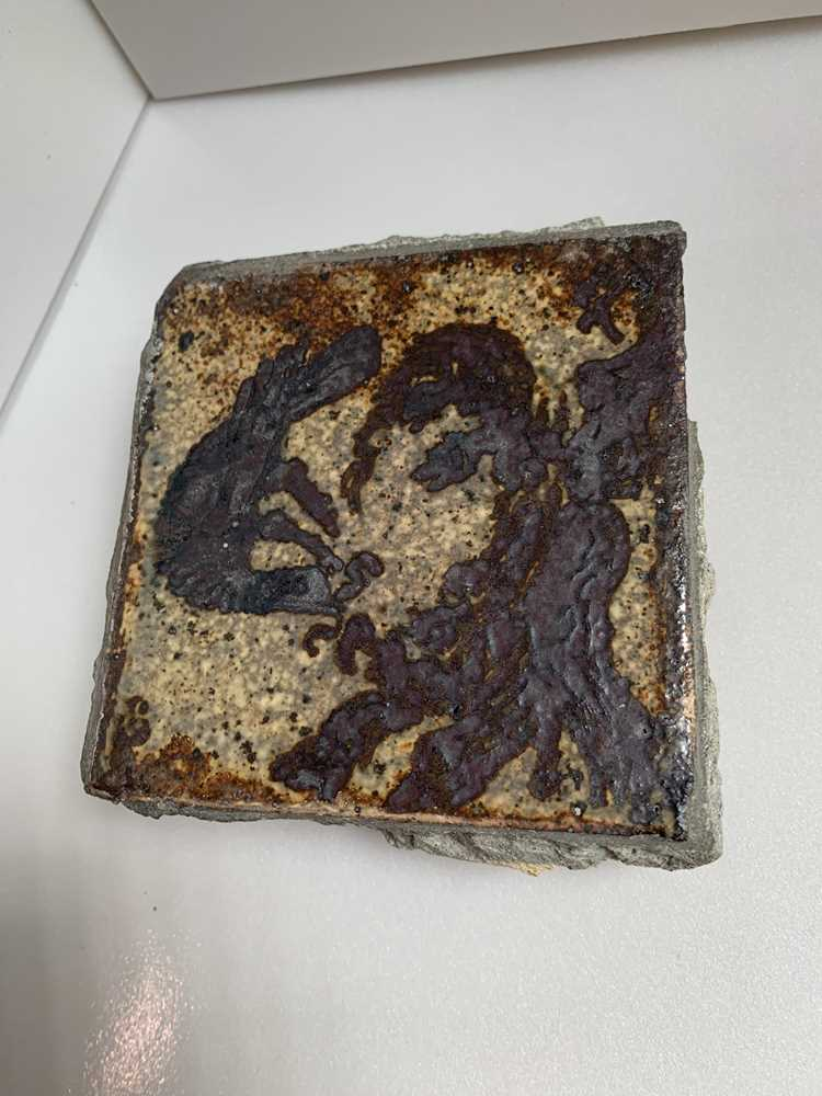 Bernard Leach (British 1887-1979) 'Bird on Nest' Tile - Image 2 of 6