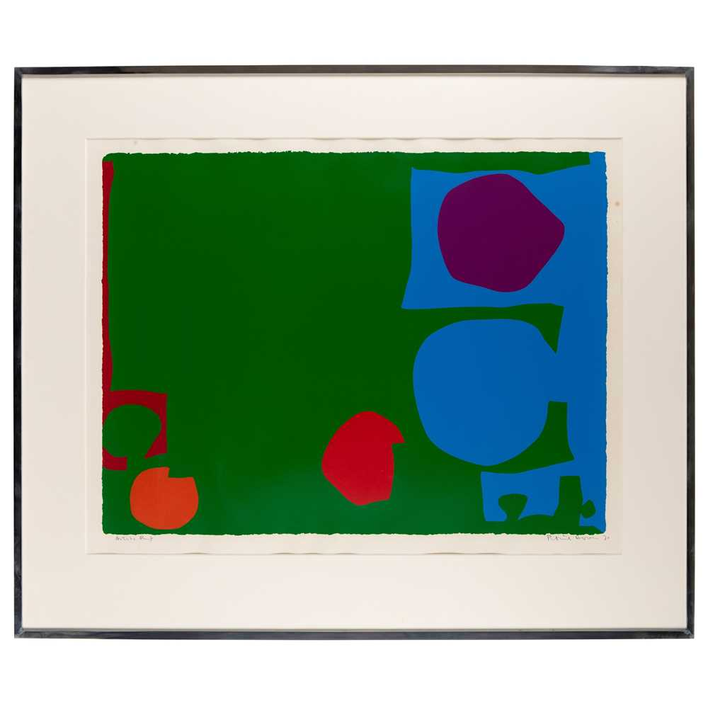 Patrick Heron C.B.E. (British 1920-1999) Three Reds in Green and Magenta in Blue : April 1970 - Image 2 of 3