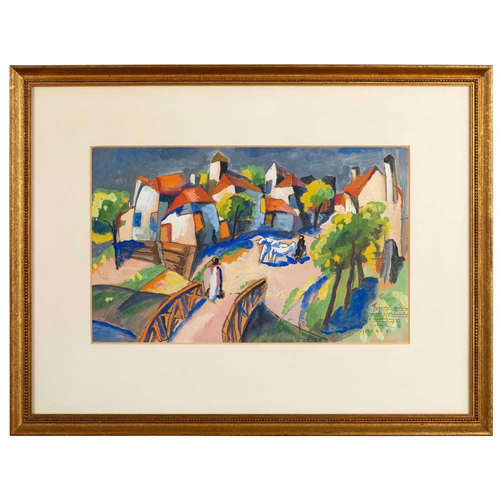 Béla Kádár (Hungarian 1877-1956) Village Scene, 1922 - Image 2 of 3