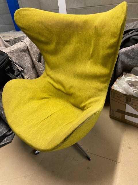 Arne Jacobsen (Danish 1902-1971) Egg Chair and Ottoman - Image 4 of 7