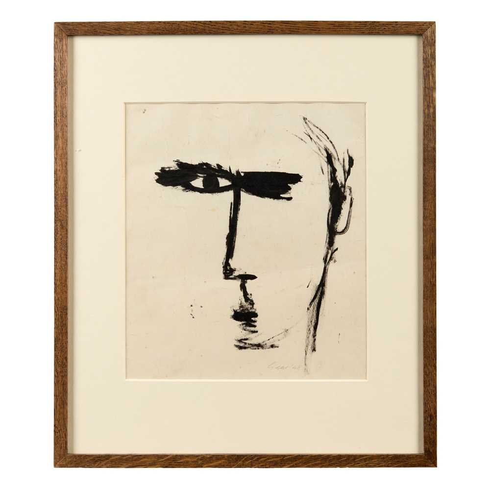 William Gear R.A., F.R.S.A., R.B.S.A. (British 1915-1997) Self-Portrait, 1948 - Image 2 of 3