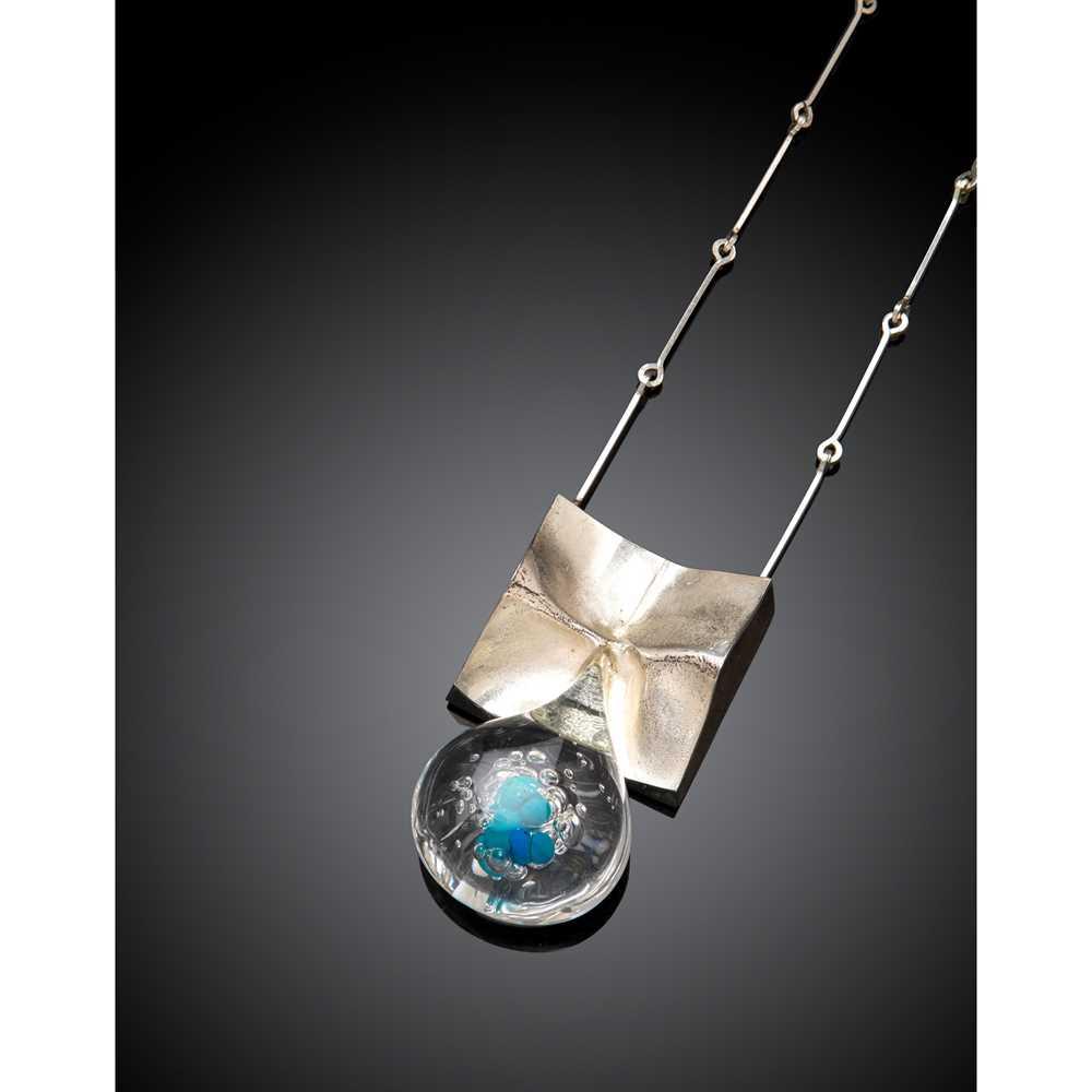 Björn Weckström (Finnish 1935-) for Lapponia 'Pisaranmuoto' (Big Drop) Pendant Necklace