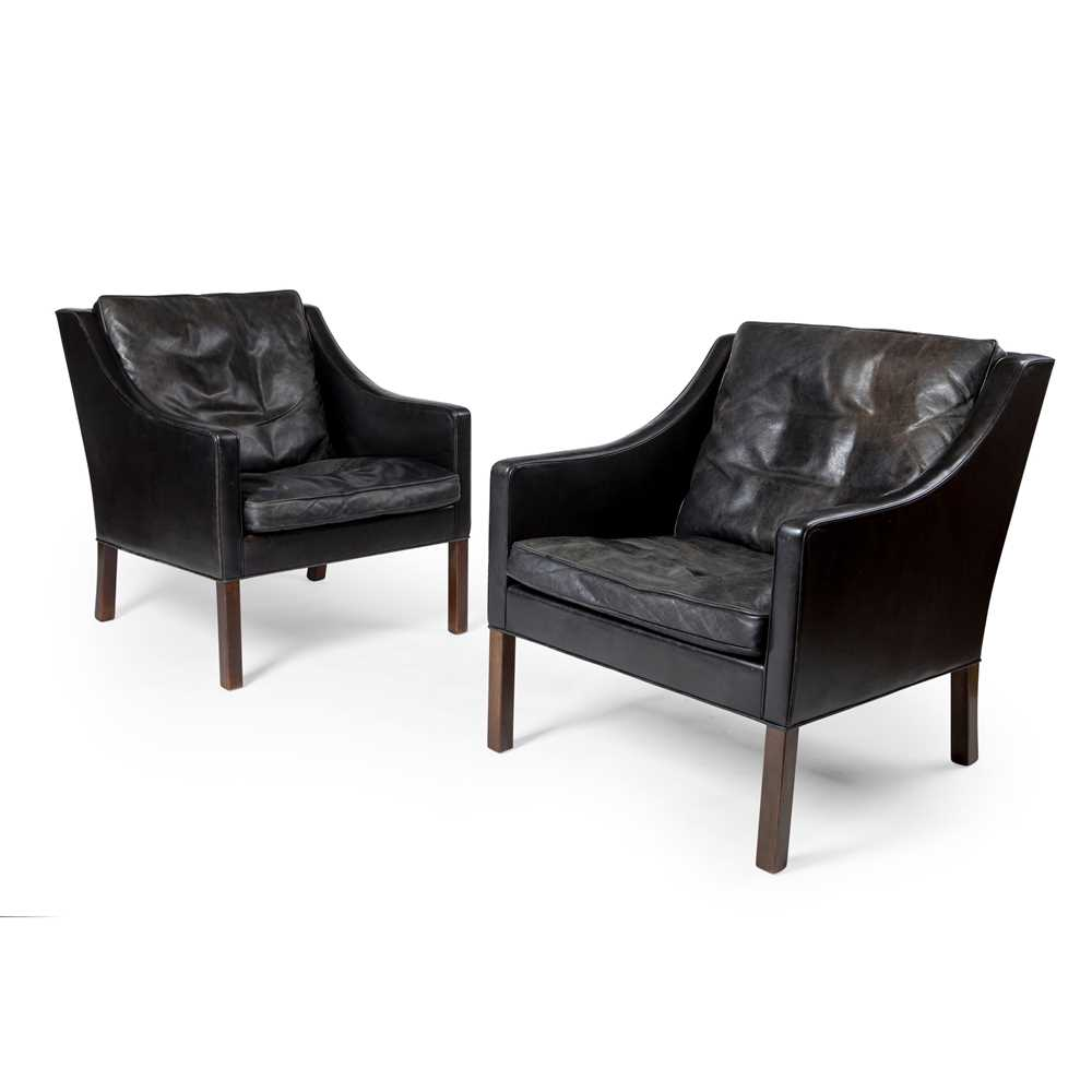 Børge Mogensen (Danish 1914-1972) for Fredericia Pair of Armchairs, designed 1963
