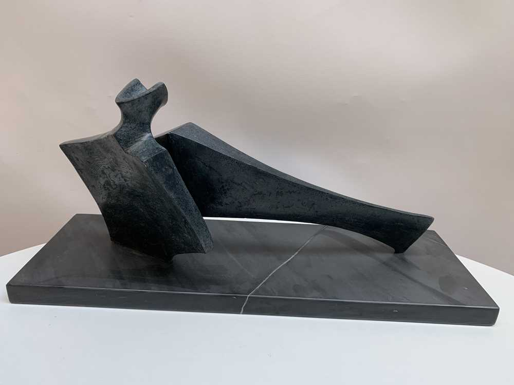 Stephen Clutterbuck (British 1932-) Two Piece Reclining Figure, 2003 - Image 4 of 9