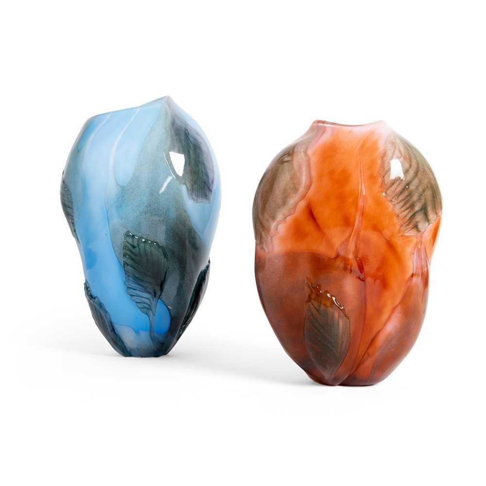 Per-René Larsen (Danish 1949-) Two Vases, 1998