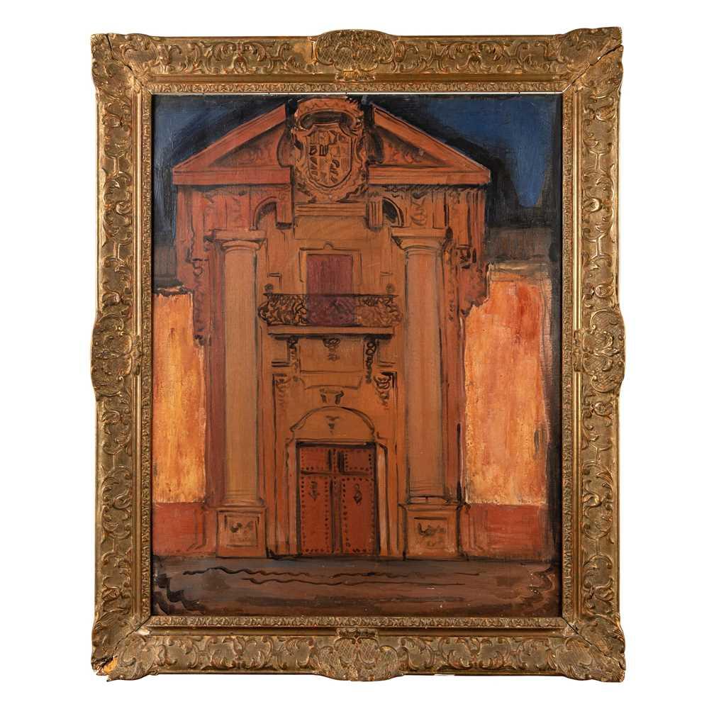 Ismael Gonzales de la Serna (Spanish 1898-1968) The Doorway, Venice, 1924 - Image 2 of 4
