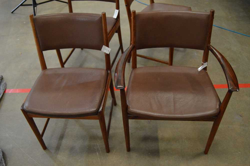 Kai Lyngfeldt Larsen (Danish 1920-2001) for Vejen Dining Table and Set of Six Chairs - Image 7 of 26