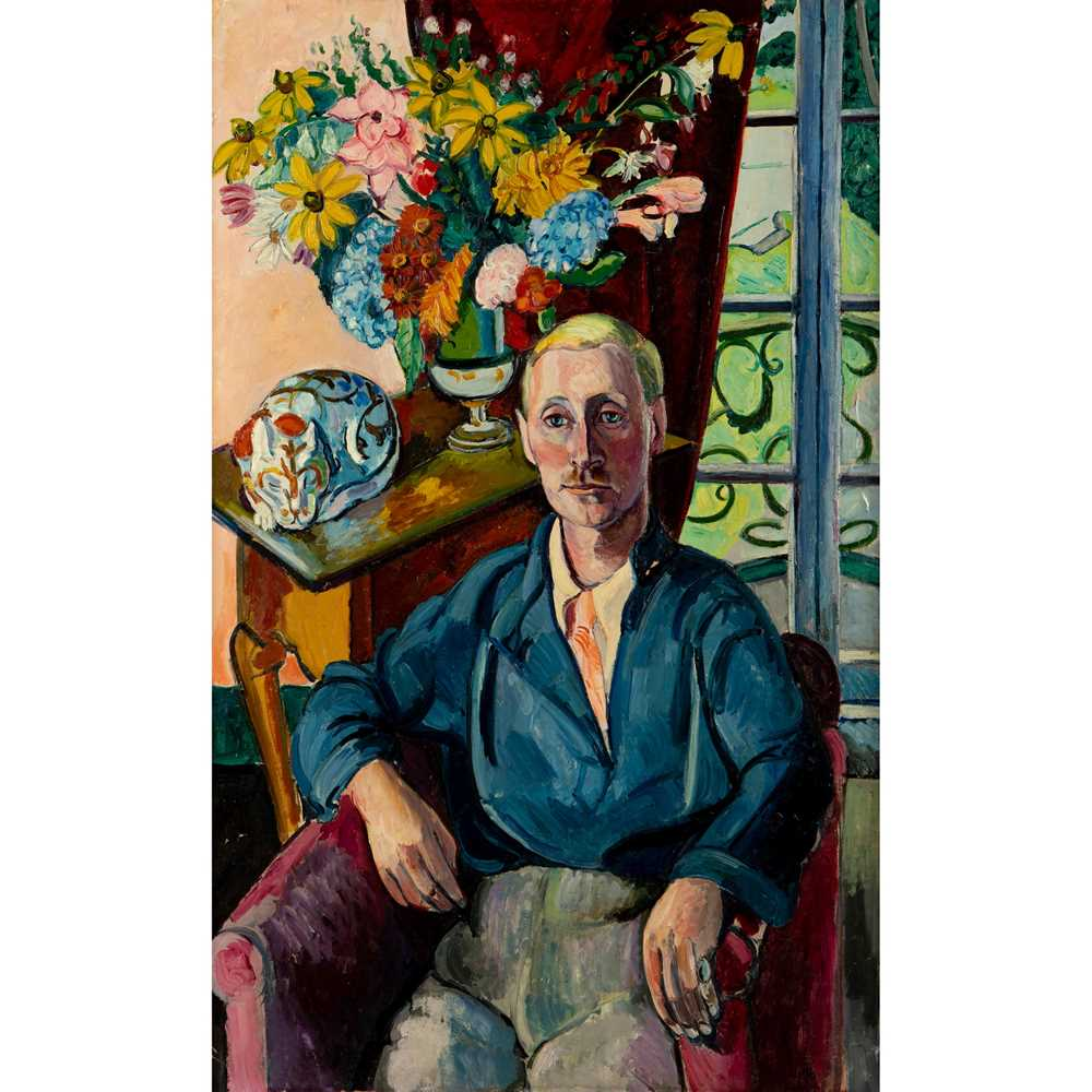 Edward Wolfe R.A. (South African/British 1897-1982) Portrait of Jim Wylie at Portmeirion
