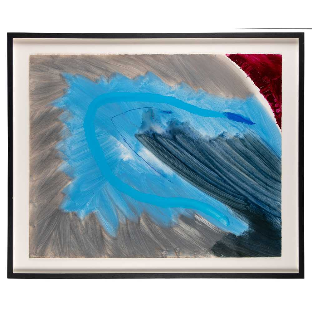 Trevor Bell (British 1930-2017) Image with a Blue Cut, 1986 - Image 2 of 3