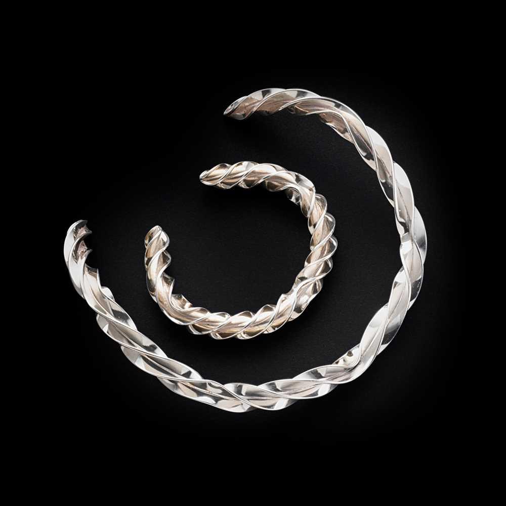 Andreas Mikkelsen (Danish 1928-2008) for Georg Jensen Collar Necklace and Bracelet - Image 2 of 2