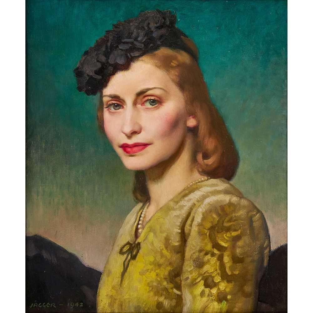 David Jagger R.O.I (British 1891-1958) Mrs Thelma Bader (wife of Wing Commander Douglas Bader, D.S.O