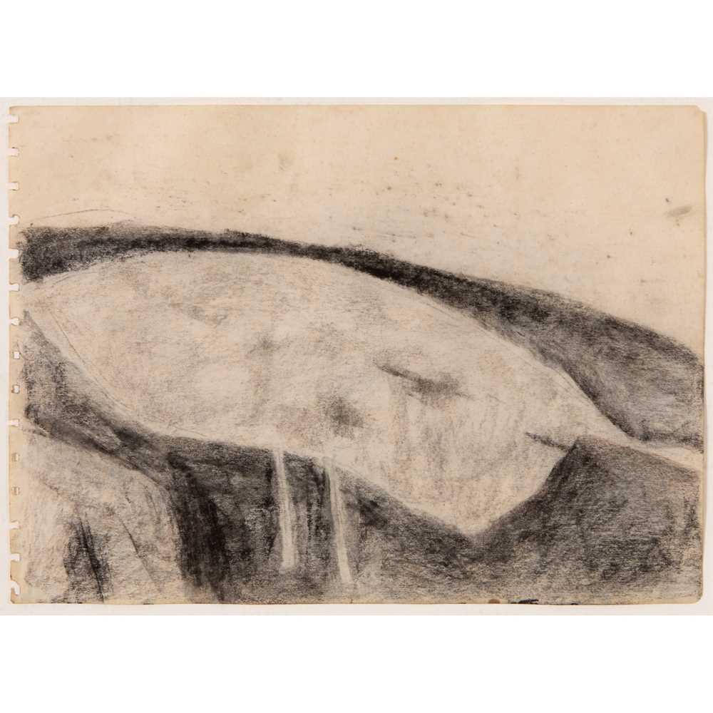 William Scott C.B.E., R.A. (British 1913-1989) Figure into Landscape, circa 1960