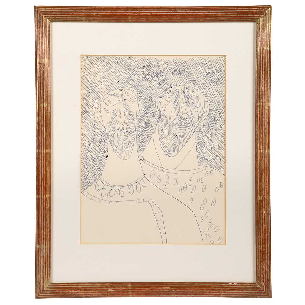 Francis Newton Souza (Indian 1924-2002) Two Heads, 1961 - Image 2 of 3