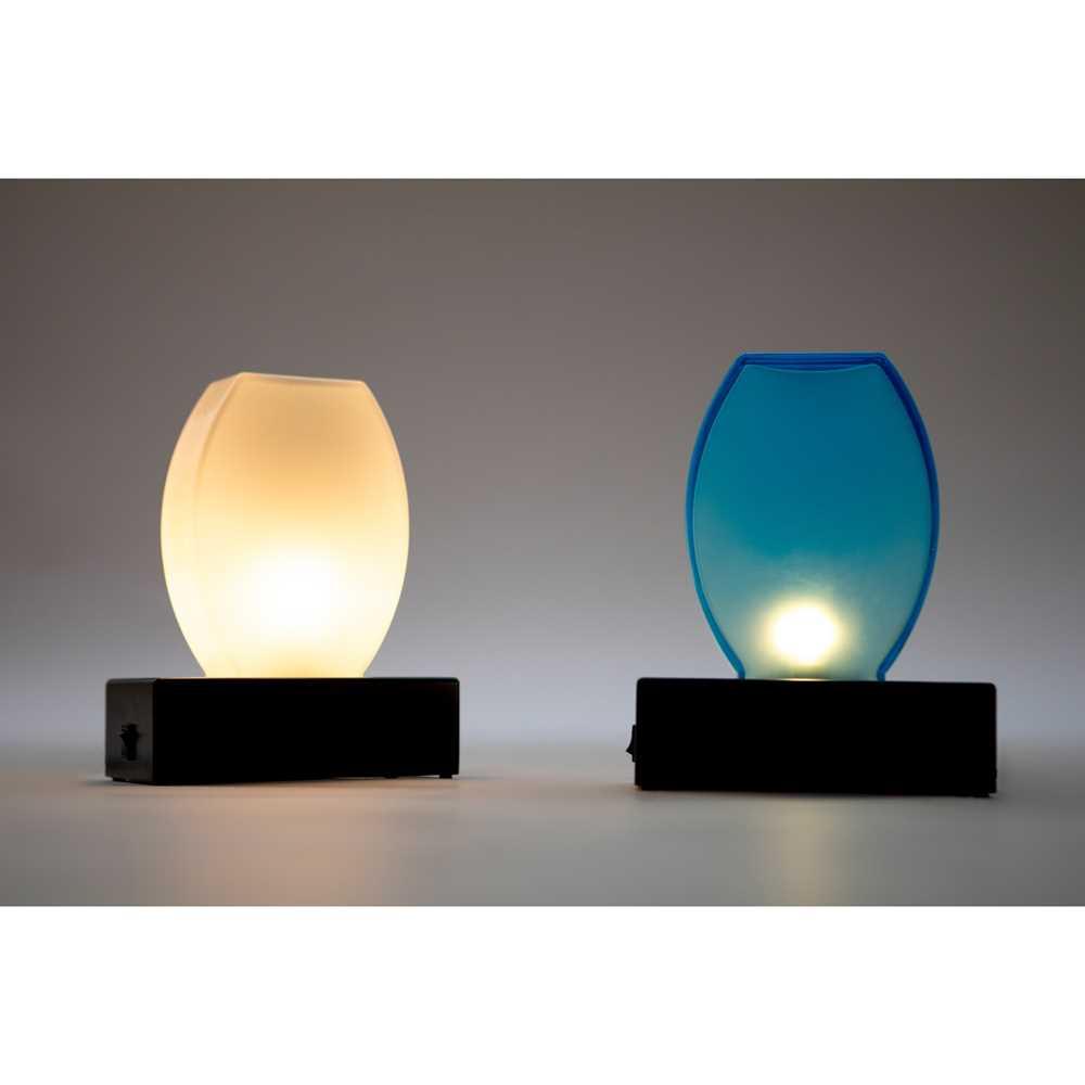 Ettore Sottsass (Italian 1917-2007) for Stilnovo Pair of Doran Table Lights, designed 1978