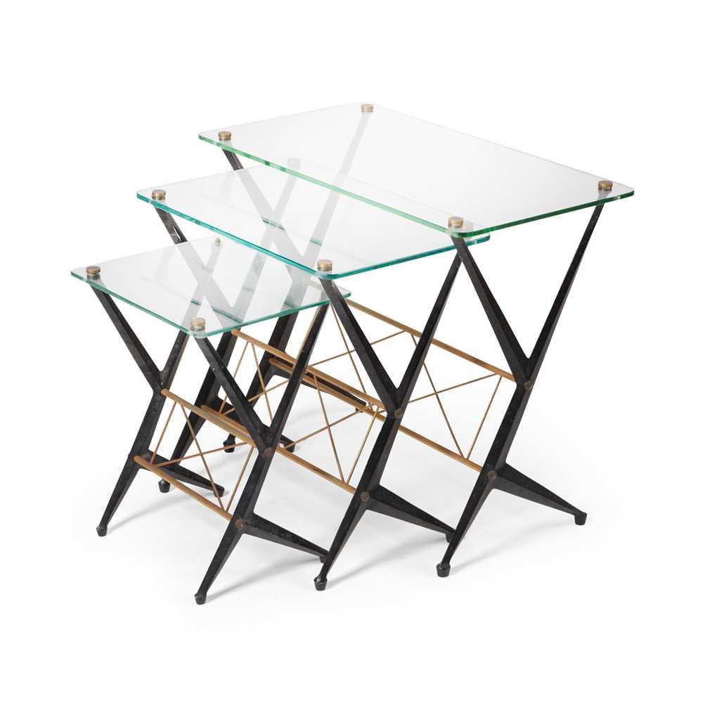Angelo Ostuni (Italian 20th Century) Set of three tables, circa 1950s