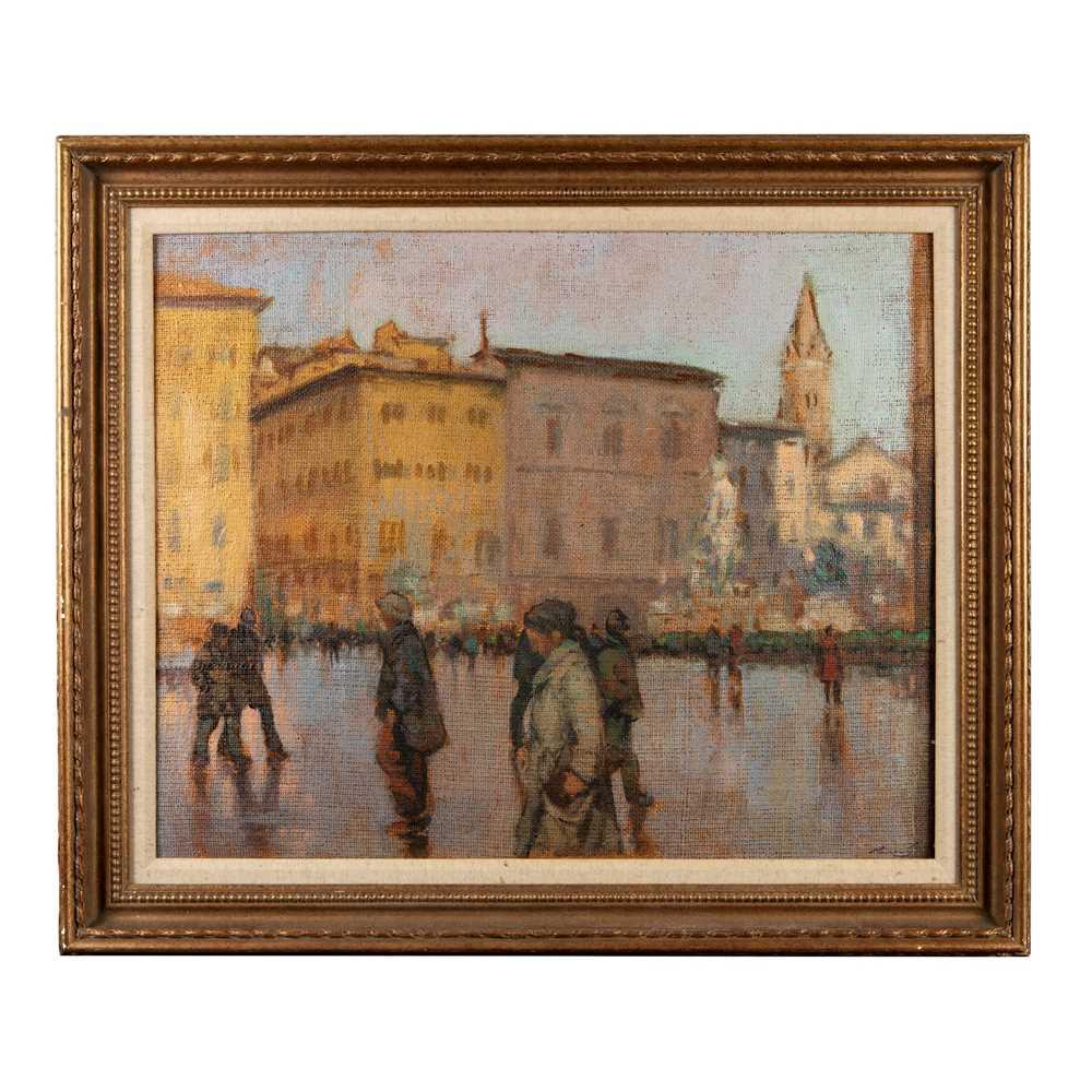 Ken Moroney (British 1949-2018) Piazza Della Signoria, Florence - Image 2 of 3