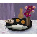 Mary Fedden O.B.E., R.A., R.W.A. (British 1915-2012) Fish, Gourd and Flowers, 2007