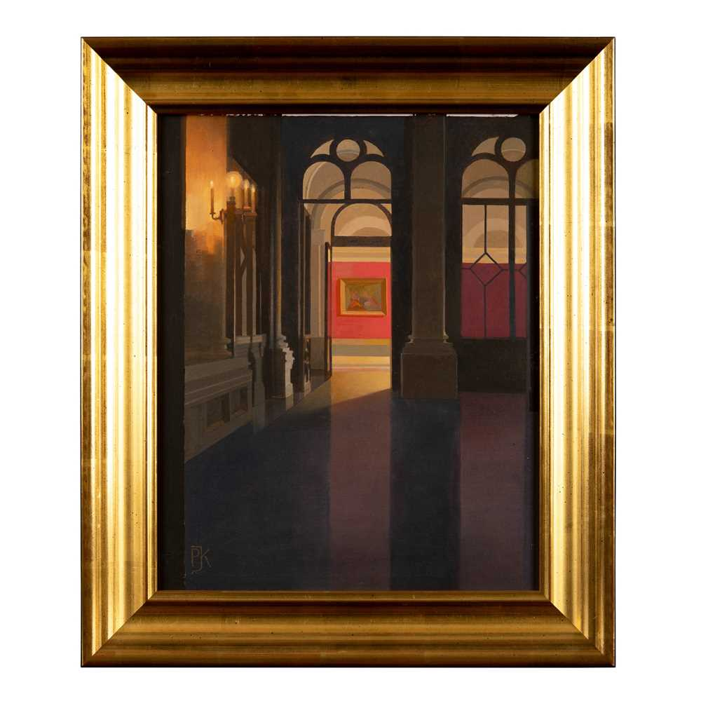 Peter Kelly N.E.A.C. R.B.A. (British 1931-2019) Entrance to the Red Room, Yusupov Palace, St. Peter - Image 2 of 3